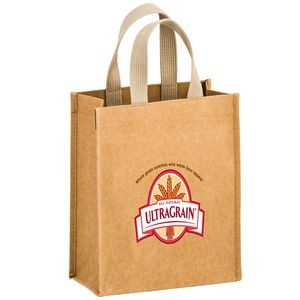 CYCLONE - Washable Kraft Paper Tote Bag w/ Web Handle (8
