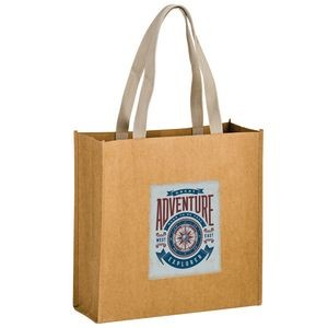TIDAL WAVE - Washable Kraft Paper Tote Bag w/ Web Handle (13