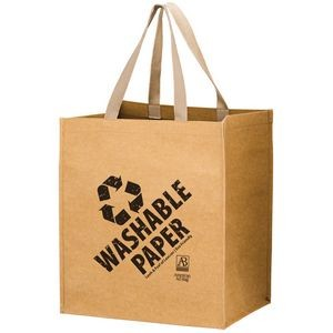 TYPHOON - Washable Kraft Paper Grocery Tote Bag w/ Web Handle (13